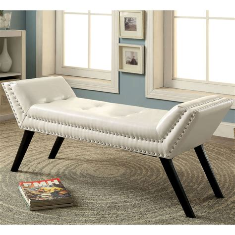 modern ottoman bench modern leather bench accent contemporary tufted ottoman