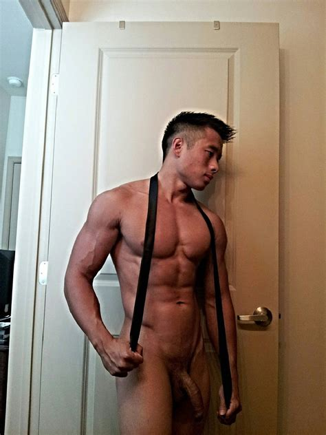 Nude Asian Man With A Large Uncut Dick