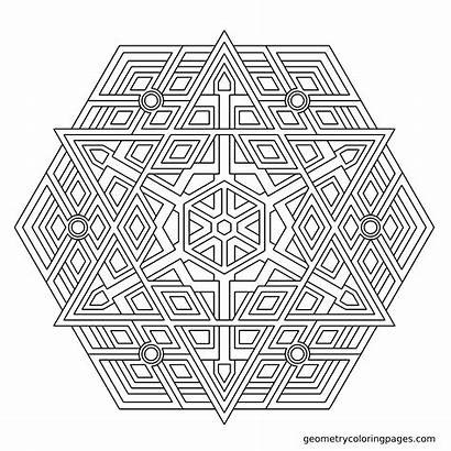 Coloring Mandala Pages Geometric Pattern Sheets Adult