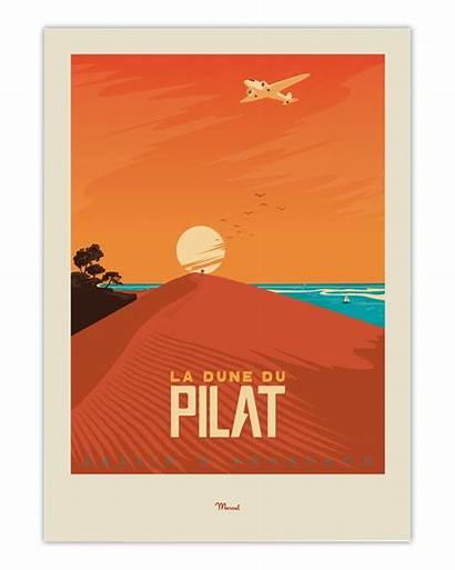 Dune Affiche Pilat Arcachon Poster Bassin Marcel