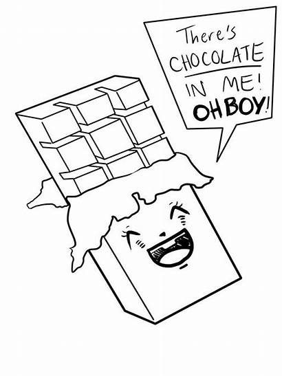 Chocolate Bar Drawing Coloring Pages Bars Candy
