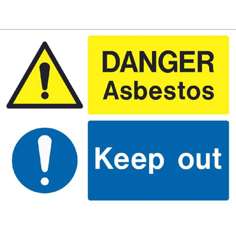 danger asbestos   ref  archer safety signs