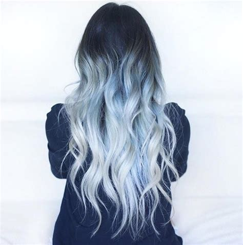Ice Blue Ombre Were Kinda Obsessed With This Hair Color