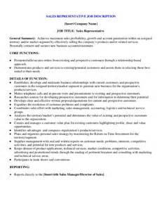 sales representative duties resume sales representative description sle slebusinessresume slebusinessresume
