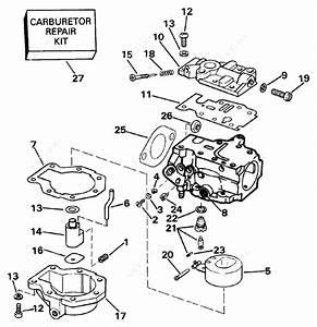 Evinrude 1991 30 - E30eeic  Carburetor 20