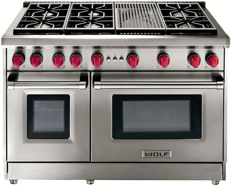 wolf 48 range top wolf 48 quot stainless gas range with charbroiler gr486c 1561