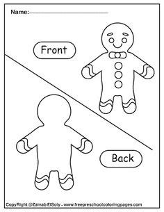 gingerbread man opposites  kids images