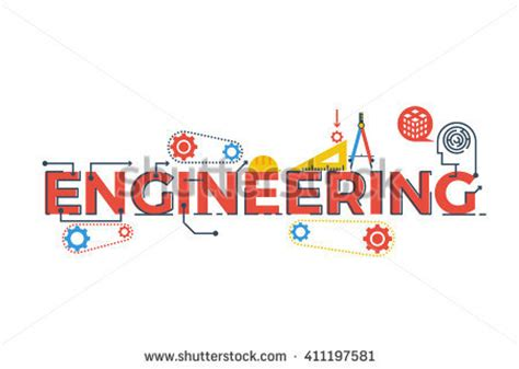 illustration of engineering word in stem science technology engineering mathematics