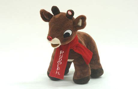 """Coming to a city near you this holiday season. 20"""" Light Up Musical Plush Rudolph The Red-Nosed Reindeer ..."""