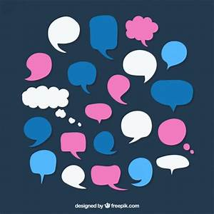 Variety of colored speech bubbles Vector   Free Download