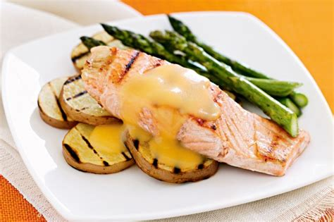 cuisine hollandaise chargrilled salmon with hollandaise sauce recipe taste