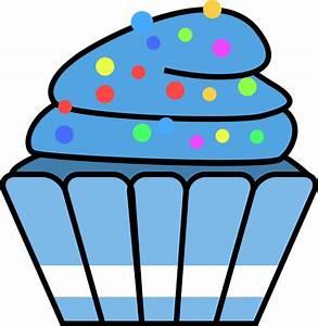 Blue Cupcakes Clipart (29+)