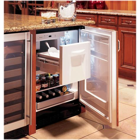 monogram  cu ft built  compact refrigerator stainless steel zibshss  buy