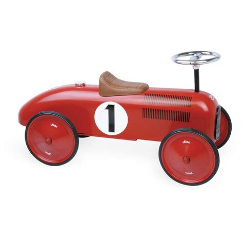 vilac metal car white push and pull baby