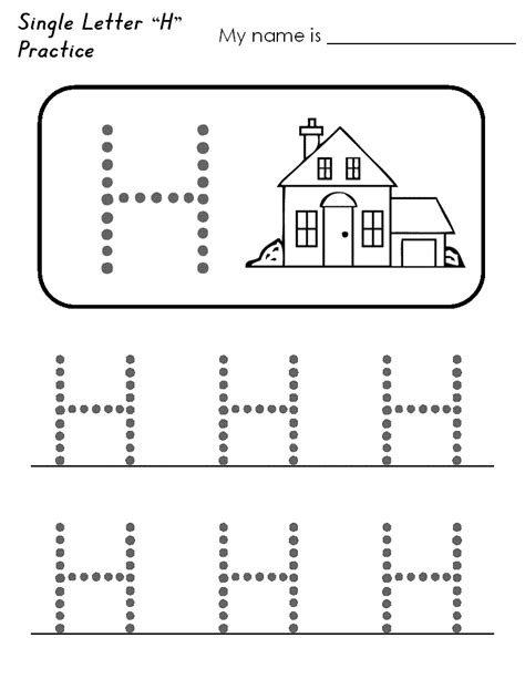 letter h worksheets for preschoolers letter h worksheet