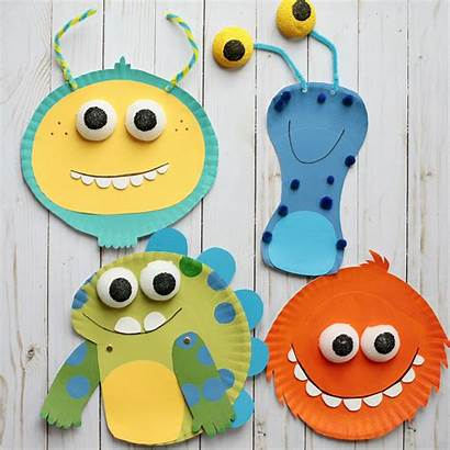 Craft Monster Paper Plate Simple Super Monsters