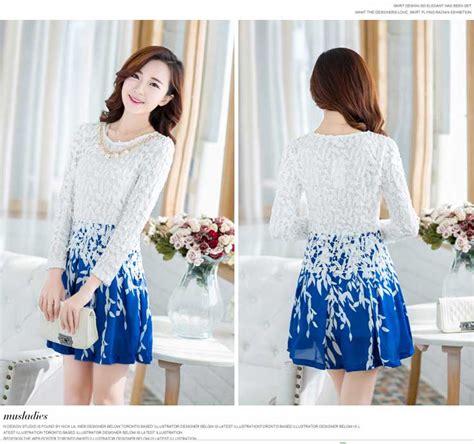 dress wanita cantik korea  jual model terbaru murah