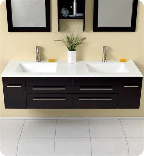 modern double sink vanity 59 fresca bellezza fvn6119uns espresso modern double