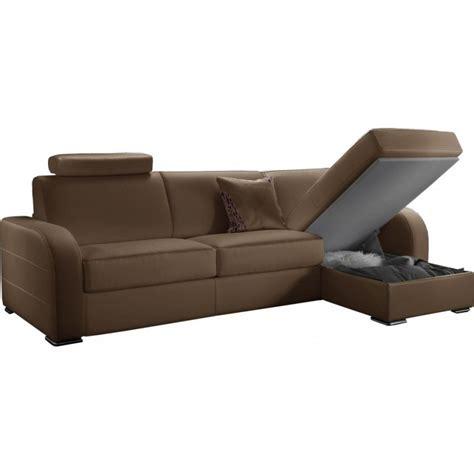 qualité cuir canapé canapé d 39 angle convertible réversible en cuir qualité