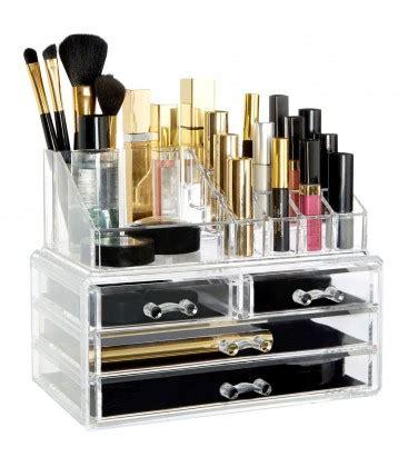 rangement maquillage en acrylique transparent