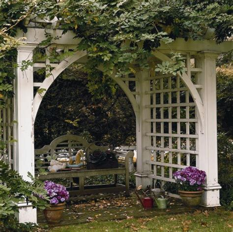 Garden Arbor Plans by Garden Arbor With Bench Plans Woodworking Projects Plans