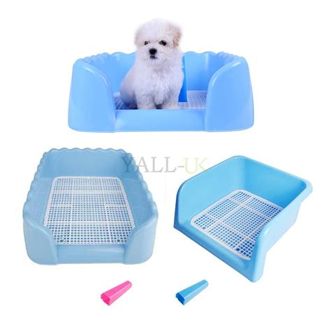 puppy toilet at indoor puppy potty toilet with fence 2 style 2 size blue ebay