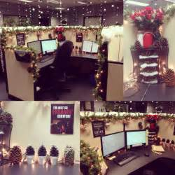 my cubicle decorated for christmas christmas cubical