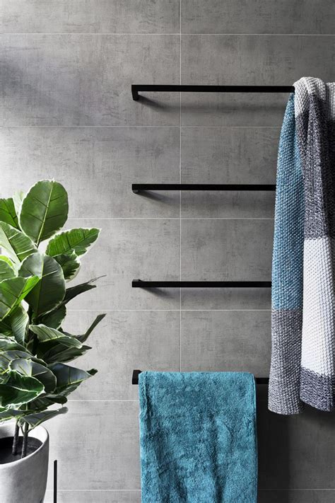 Bathroom Towel Colors by Matte Black Accents Add Sophistication To This Grey And