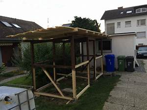 Holzunterstand Selber Bauen : ein festes dach f r den selbst gebauten kaminholzunterstand ~ Whattoseeinmadrid.com Haus und Dekorationen