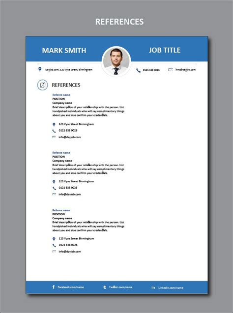 How Can I Write Cv Exles by References Or Referees In A Cv How To Write Name