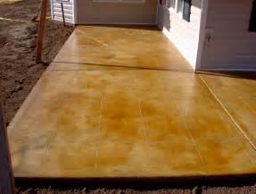 Acid Stain Concrete Patio