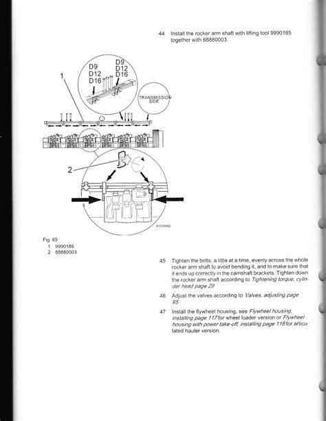 check  adjust valves  injectors  volvo ved