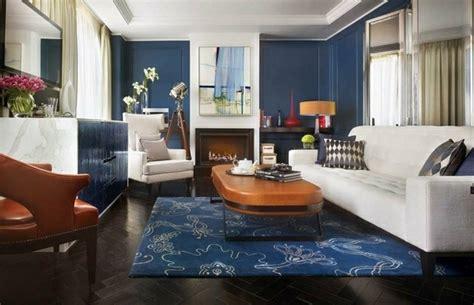 canapé style anglais deco salon avec canape bleu chaios com