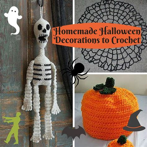 homemade halloween decorations  crochet