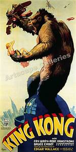 1933 King Kong Empire State Building Movie Poster - 18x36 ...
