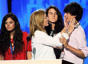 Caroline Kennedy, with her kids (left to right) Rose ...