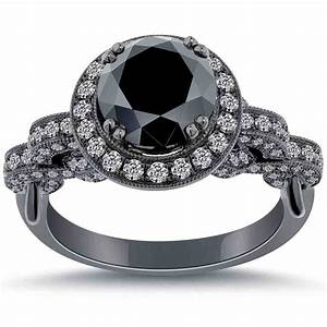 Cheap Black Diamond Engagement Rings Wedding And Bridal