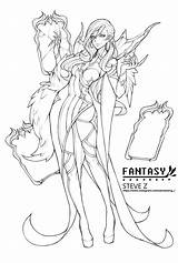 Mirror Coloring Fantasy Artstation Pages Anime Zheng Steve Adult Lineart Fairy Books Printable sketch template