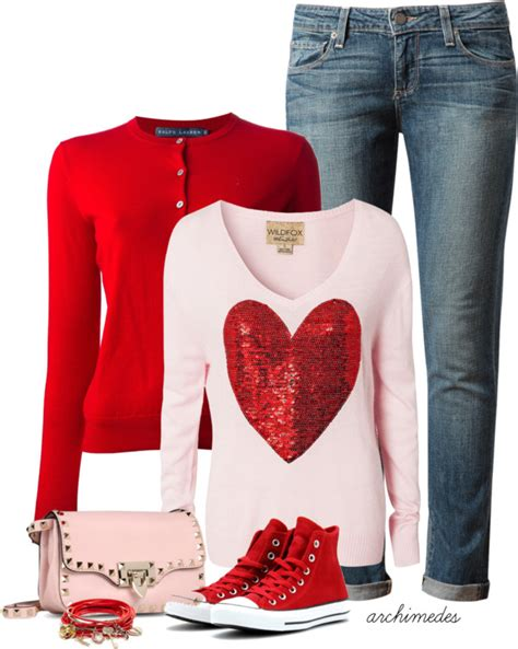 Valentineu2019s Day Casual outfit - larisoltd.com