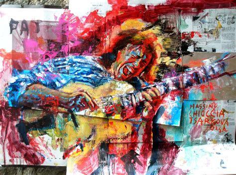 Pat Metheny Painting By Massimo Chioccia And Olga Tsarkova