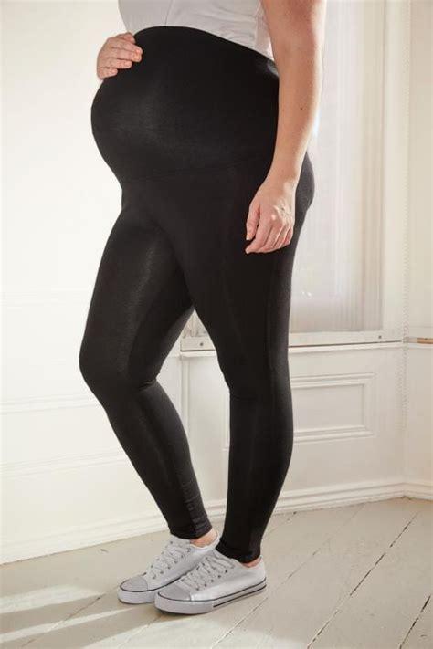 bump   maternity black cotton elastane leggings
