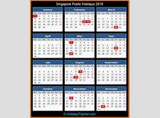 Singapore Public Holidays 2018 – Holidays Tracker