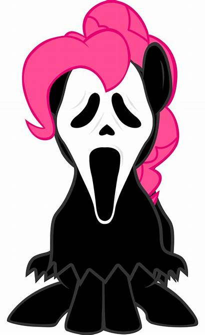 Ghost Face Scary Pie Pinkie Clipart Clip
