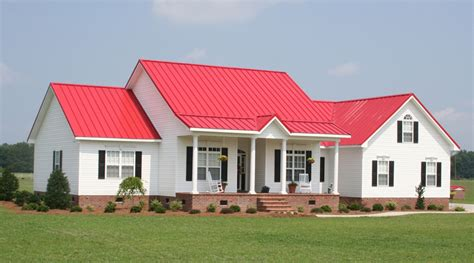 Haus Rotes Dach by Metal Roofs Photo Gallery Metal Roofing For Residential