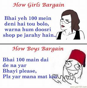 Funny Picture Difference Between Girls And Boys Bargaining ...