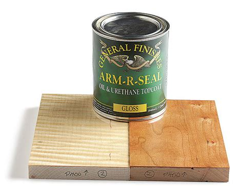 general finishes arm  seal finewoodworking