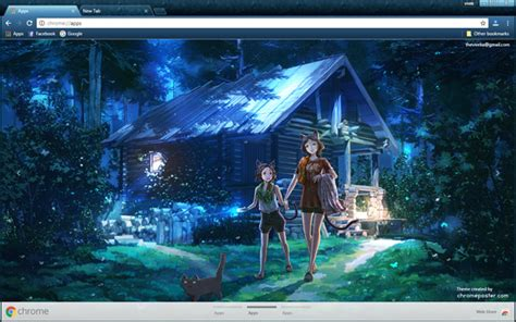 Anime Theme Wallpaper - anime chrome theme chromeposta