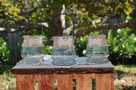 rustic shabby chic wedding decor rustic candle holders rustic flower vase shabby chic