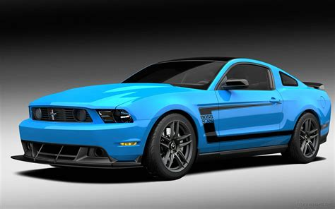 Blue 2012 Ford Mustang Boss Wallpaper
