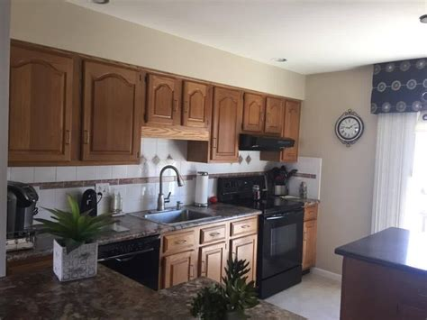 Gray Painted Oak Cabinets And Kitchen Makeover  Tuesday